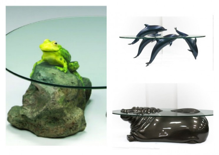Unique Water Tables Captivate the Magnificence of Semi-Submerged Animals