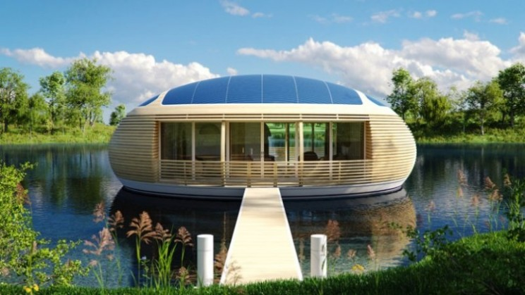 WaterNest 100 solar powered floating home concept