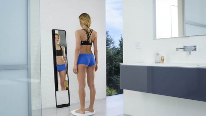 Magic 'Naked' Mirror Tracks your Fitness and Body Weight