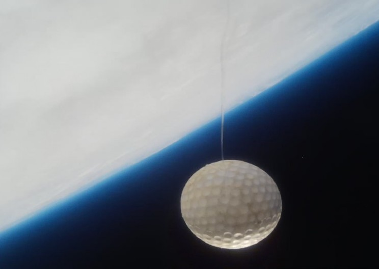 WATCH: 7 Year Old Hits a Golf Ball into Space