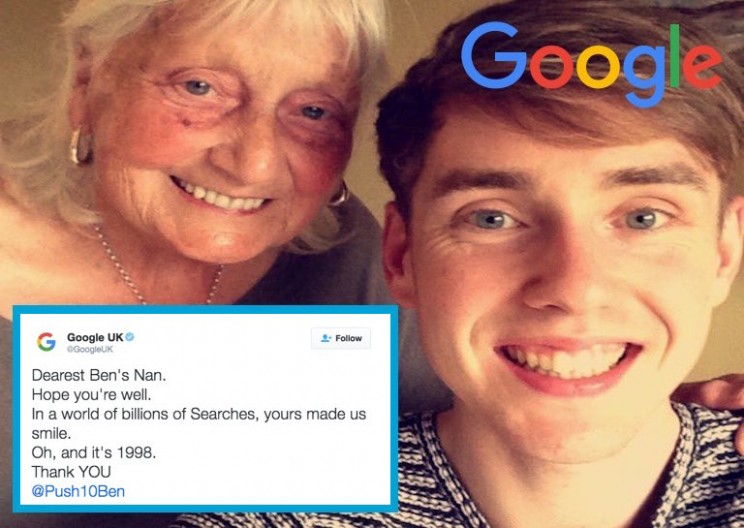 Nice Grandmother Gets Reply from Google after Very Polite Google Search
