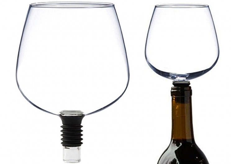 Guzzle Buddy Can Turn Any Wine Bottle Into Your Wine Glass