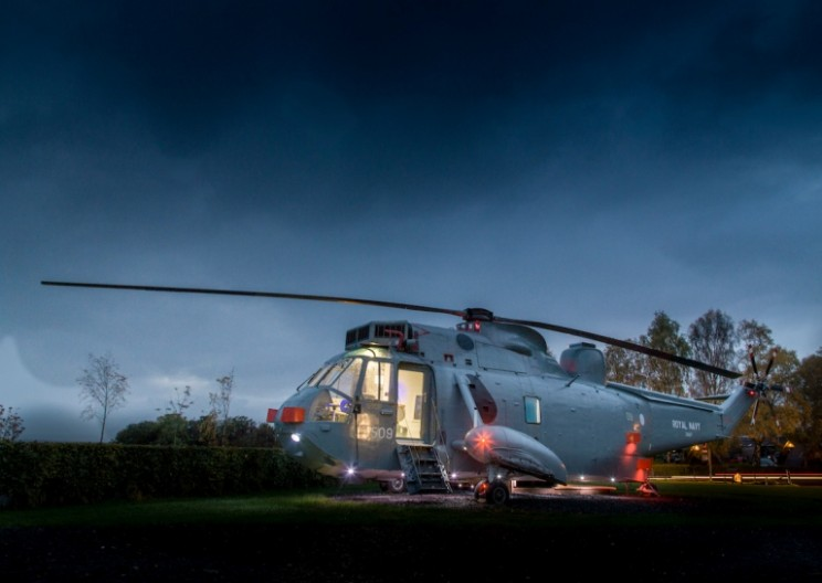 Scottish Owners Converted This Old Helicopter into a Stunning Mini Hotel Suite