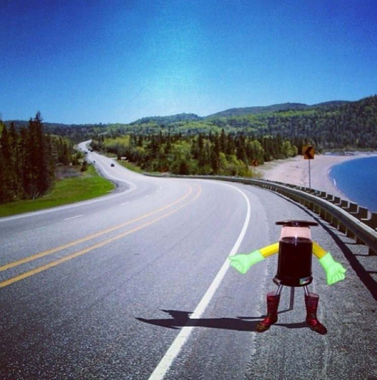 HitchBOT gets a thumbs up on highways in Canada