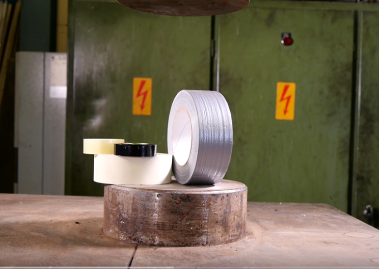 Hydraulic Press vs Duct Tape