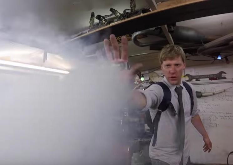 Engineer Creates Palm-mounted Ice Man Liquid Nitrogen Gun