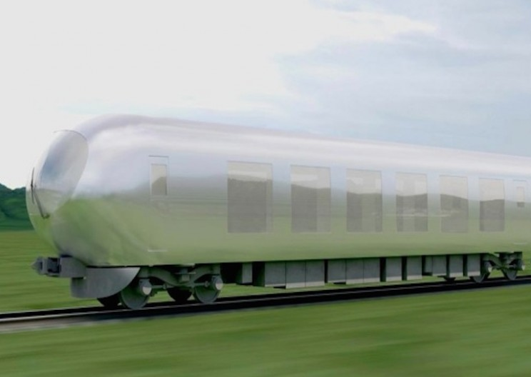 "Japanese Architect is Designing an ""Invisible"" Train"