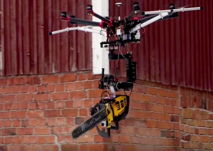 Killer Chainsaw Drone — What Could Go Wrong?