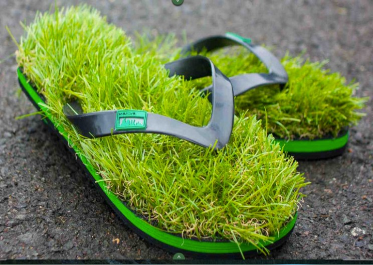Artificial Grass Flip Flops Are Now A Thing