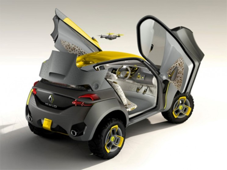 The Renault KWID concept car with its very own drone robot