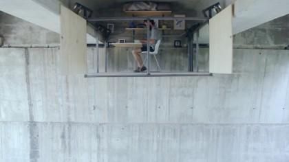 This Self-Taught Designer Built an Incredible Secret Office Beneath a Busy Bridge