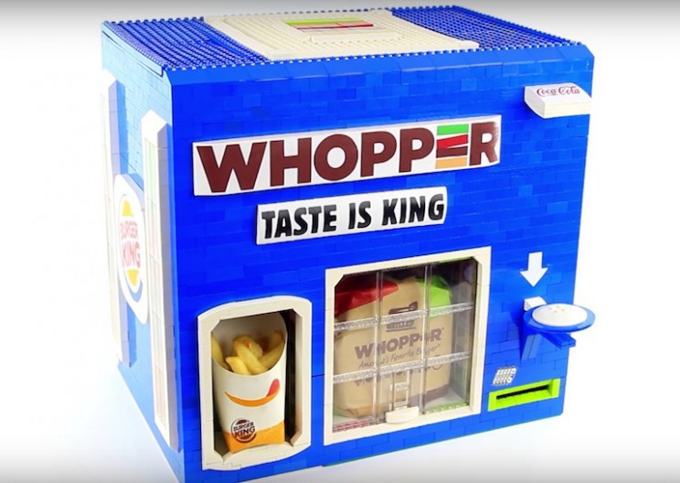 Someone Built a Robotic Lego Burger King Dispenser, and It's Insane