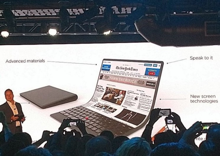 Lenovo's Latest Laptop Concept Has a Flexible Screen You Can Roll up