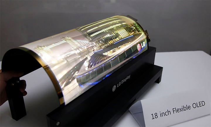 Watch this LG 18 inch OLED screen bend whilst playing video