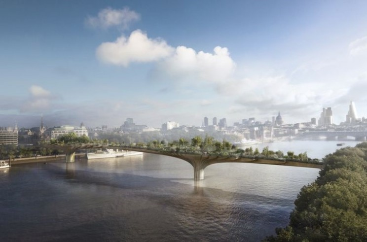 London's Garden Bridge final design revealed