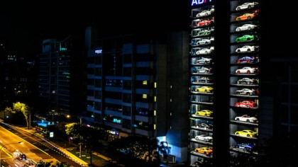 You Can Now Buy Luxury Cars from a Gigantic 15-Story Car Vending Machine