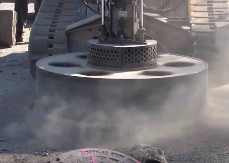 Mesmerizing Manhole Cutting Machine Makes Drilling in Roads a Breeze