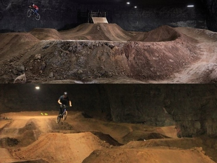 Huge underground bike park opening in Kentucky USA