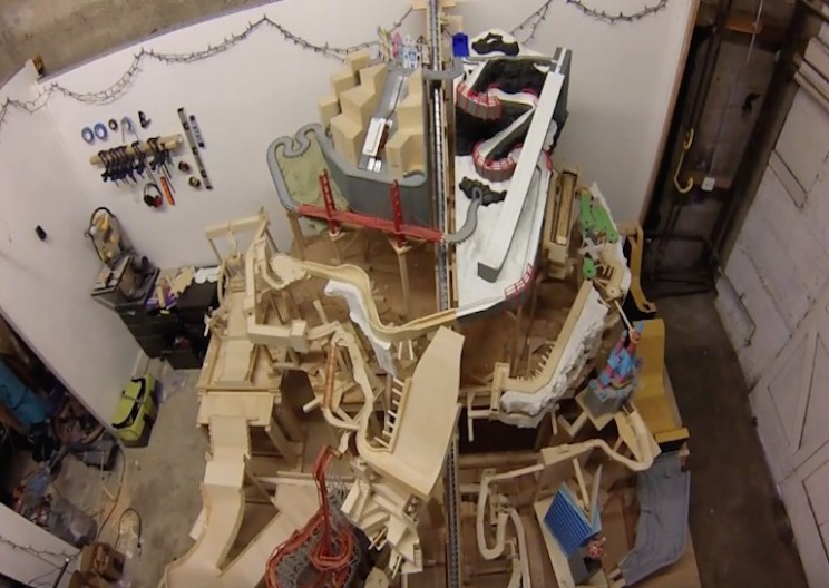 This Guy Spent 3 Years Building a Mesmerizing Marble Machine