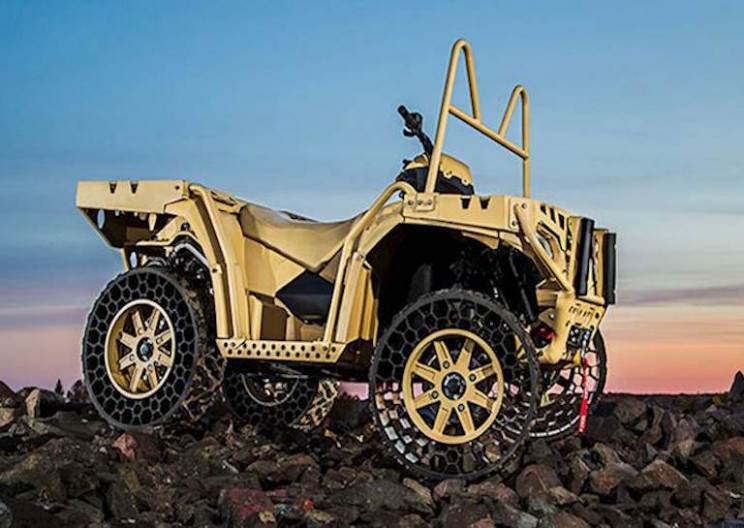 Rugged ATV with Airless Tires is Virtually Indestructible