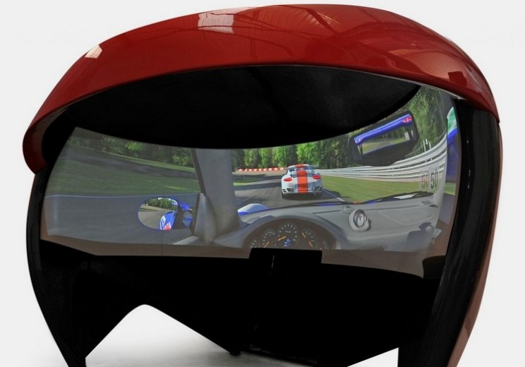 TL3 Racing Simulator offers a 200 degree display that wraps around you