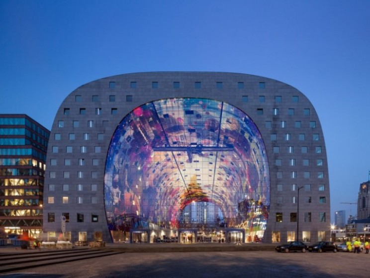 The Markthal market: These residents don't have far to travel to go to market