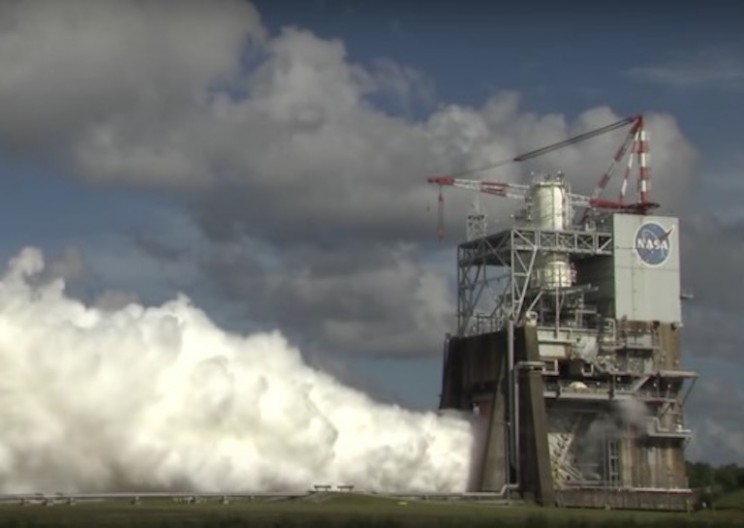 See NASA Test Fire the World's Most Powerful Rocket Ever Made in All of Its Glory
