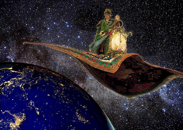 Using Flying Carpets to Light the World