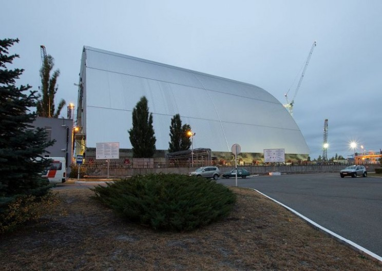 New Chernobyl Shelter Finally Slides into Place