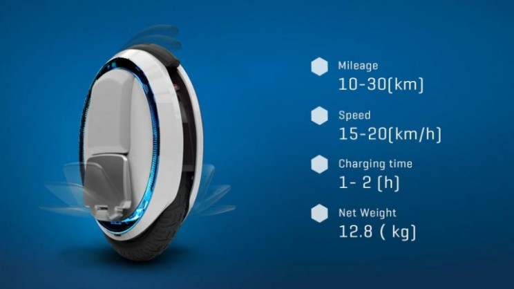 Ninebot One: the self-balancing unicycle lets you glide effortlessly around the streets