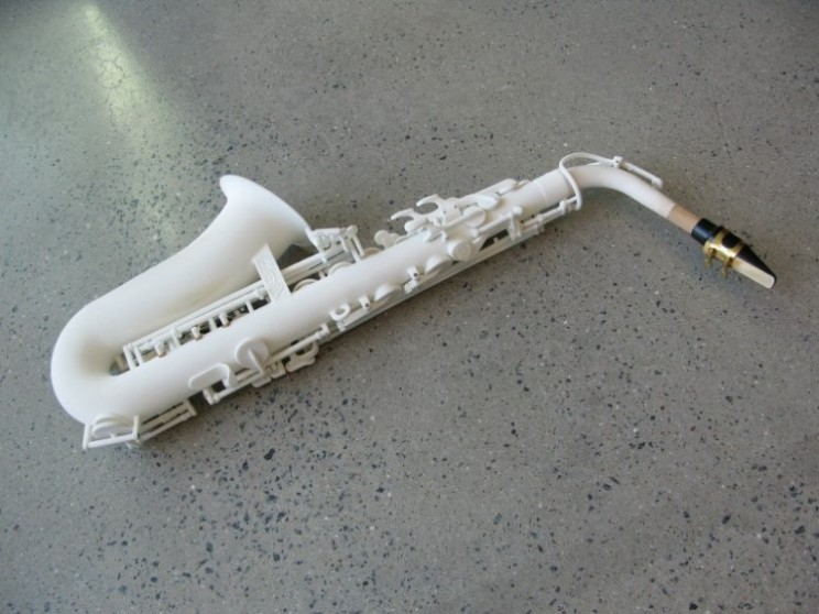 Olaf Diegel is making sweet music on a 3D printed alto saxophone