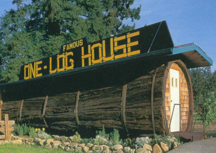 Famous House Carved Out of a Giant Redwood Log