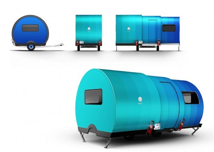 Tiny Camper Telescopically Expands to 3X its Size!