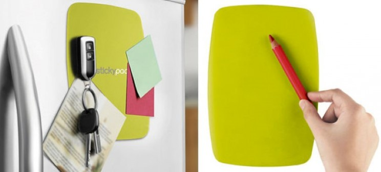 Siconi silicone sticky tablet mats stick everything to your fridge