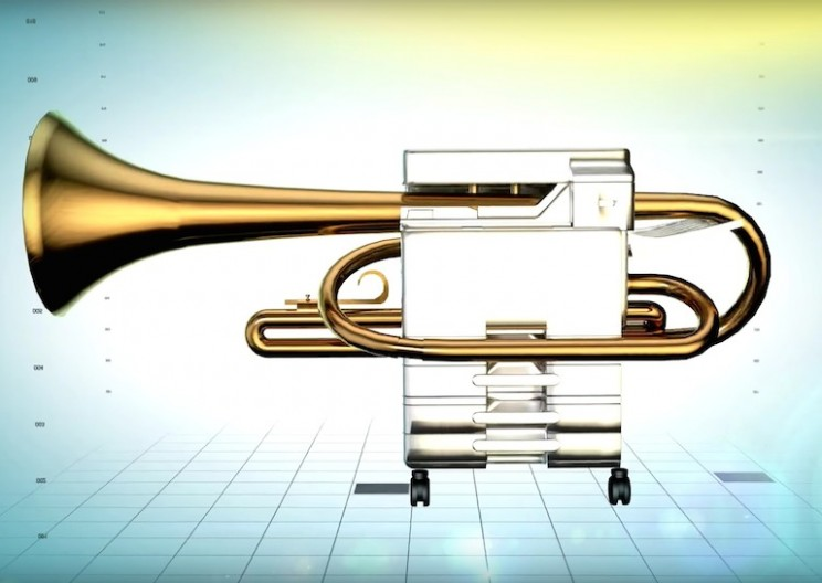 Company Salvages Old Copiers and Turns Them into Trumpets