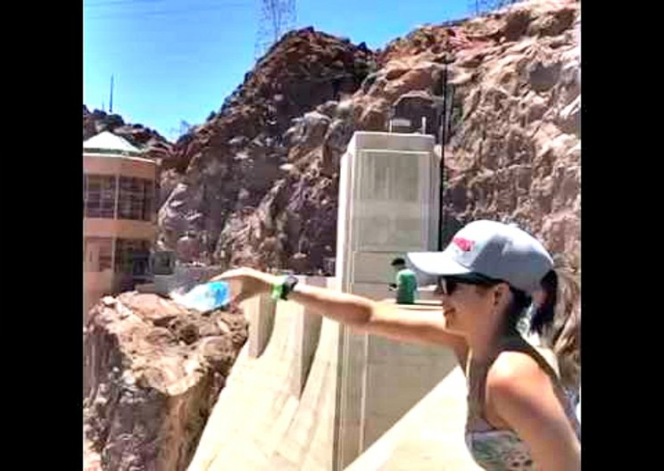 WATCH: Pour Water Upwards at the Hoover Dam
