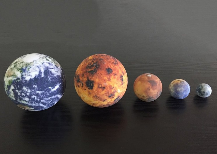 These 3D Printed Miniature Globes Let You Hold the Solar System in Your Hands