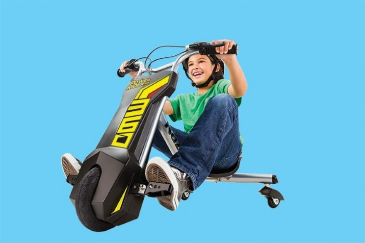 Bet you wish your tricycle had been as much fun as the Power Rider