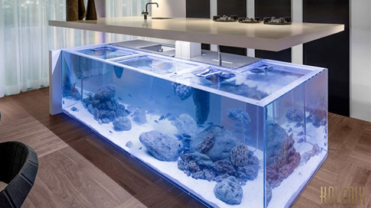 The Ocean Island brings the ocean into your kitchen