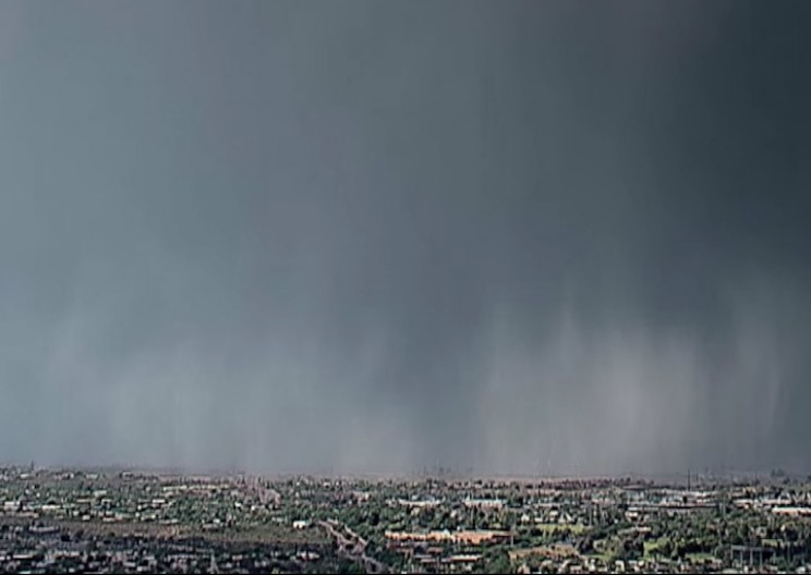 'Rain Bomb' Phenomenon Caught on Camera During Storm