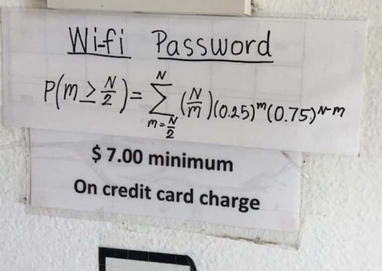 Trying to Get This Restaurant's WiFi Password Confused the Internet