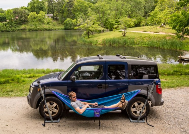 Have Car, Will Hammock: New Hammock Stand Doesn't Use Trees