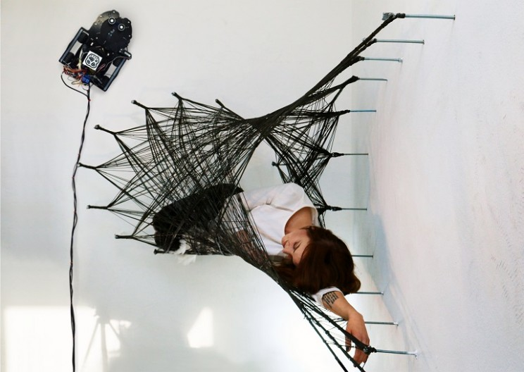 Spider Robots Weave 'Impossible' Carbon Fiber Structure