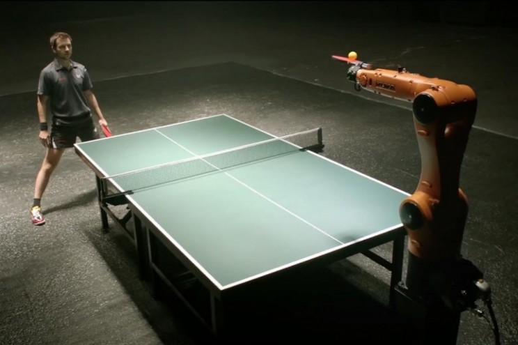 Man versus Machine in Ping Pong Showdown.