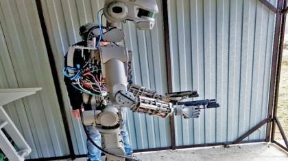 A Closer Look at Russia's Terrifying Gun-Wielding Robot FEDOR