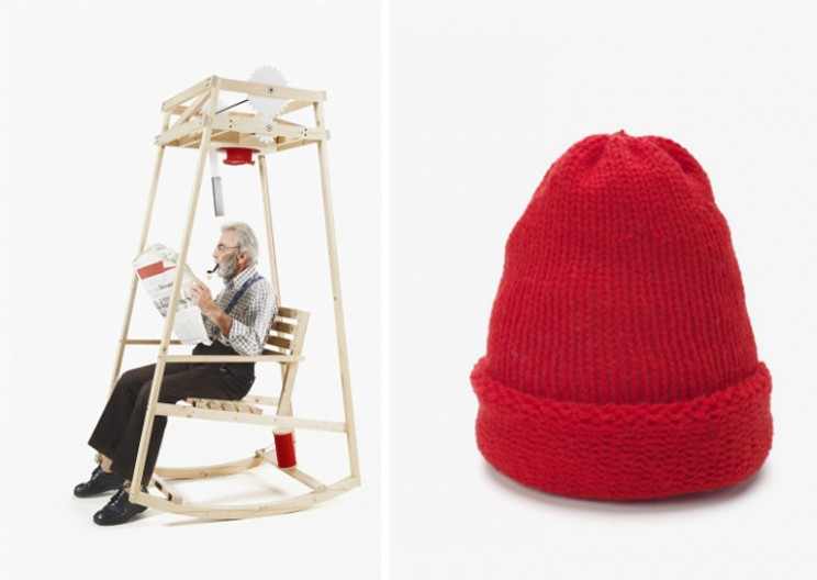 Rocking Chair Knits A Hat While You Rock