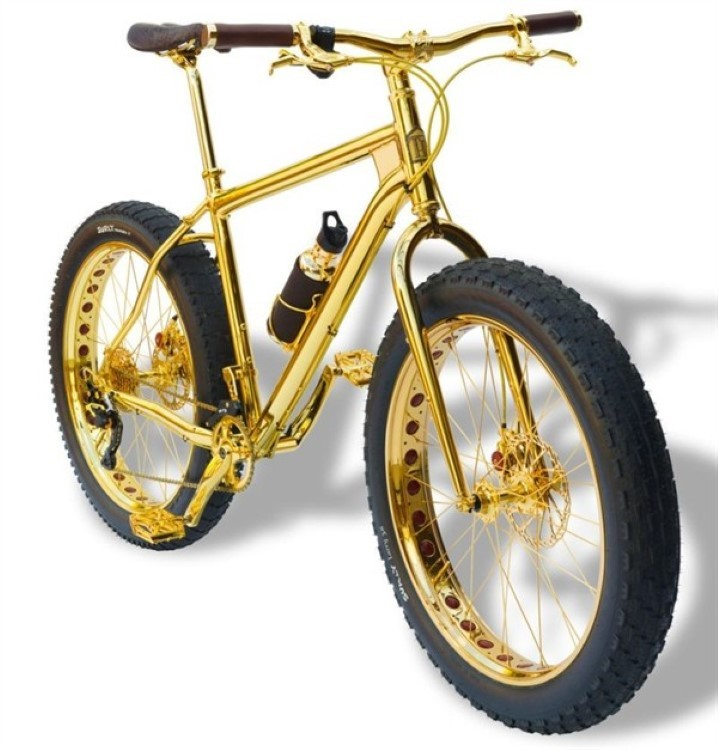 Bling on wheels with the 24k gold bike for a mere $1 million
