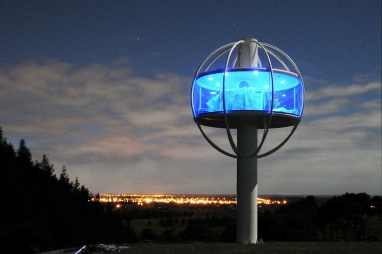 An elevated mancave: The Skysphere