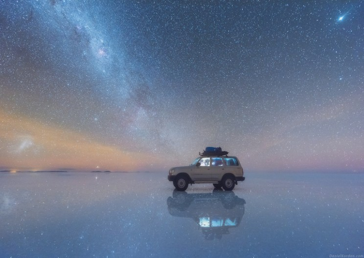 Photographer Captures Milky Way in Stunning Reflective Salt Flats