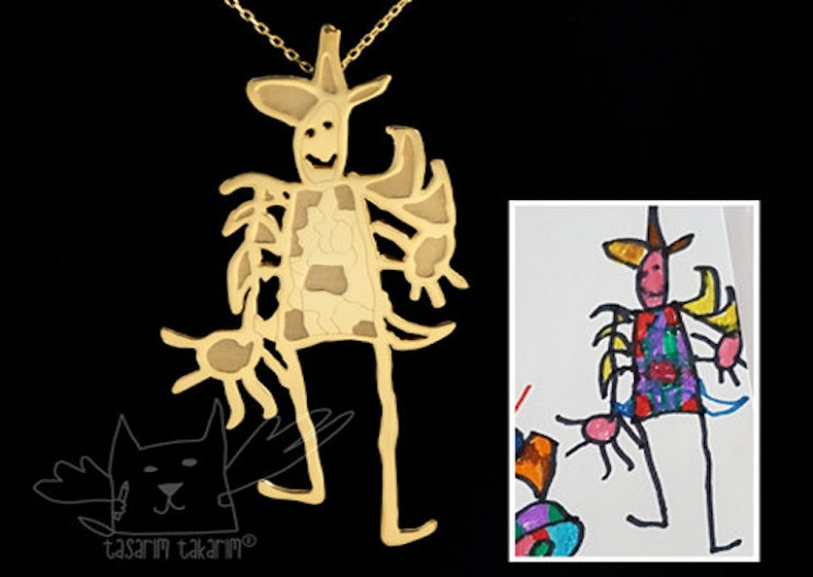 Design Workshop Turns Kid's Drawings into Jewelry